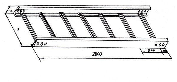 梯级式直通桥架GQ1-T1-01